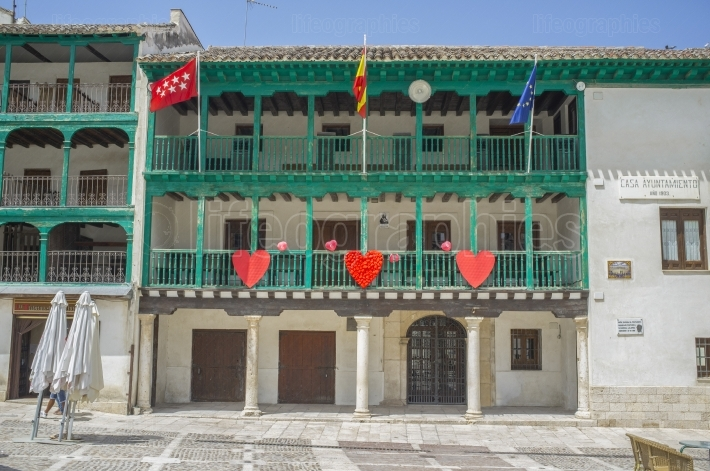 Town Hall building at main square of Chinchon, Madrid