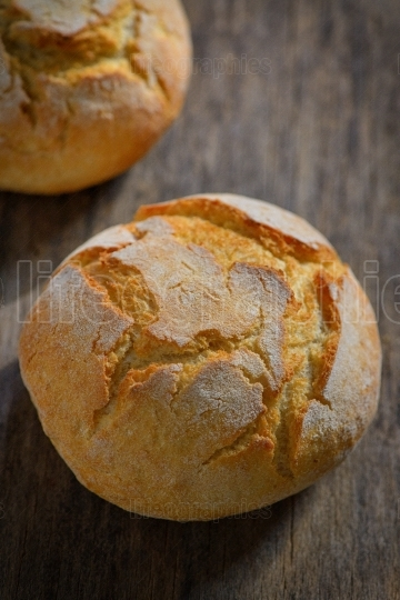 Traditional homemade round bread