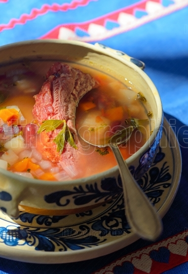 Traditional Meat stew with vegetables