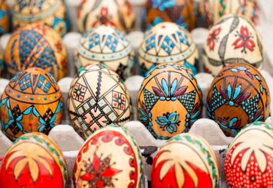 Traditional painted eggs