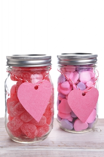 Two Jars of Valentines Candy
