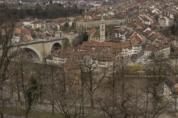 Untertorbrücke and old city of bern. switzerland.