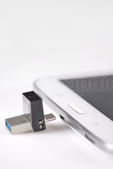 USB flashes drive 3.0 and tablet computer