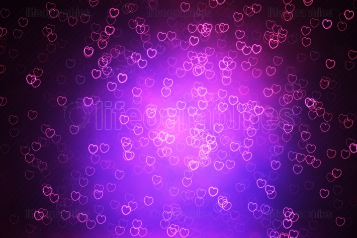 Valentine day hearts illustration background