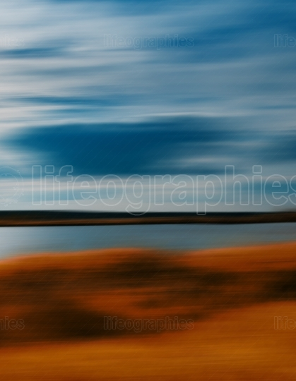 Vertical vivid autumn travel motion abstraction
