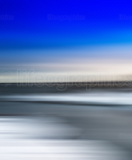 Vertical vivid simple arctic abstract blurred landscape backgrou