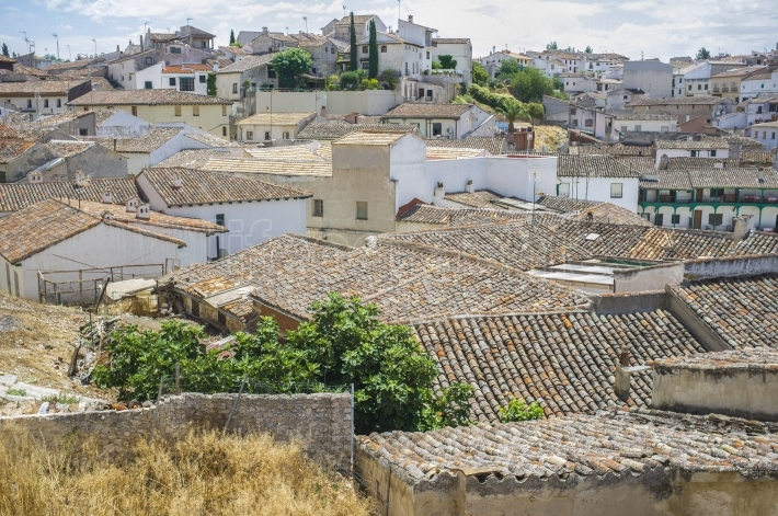 View from upper side of Chinchon, Spain
