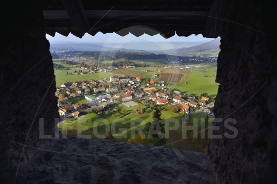 View of gruyere from gruyeres castle