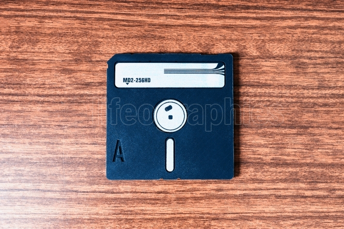 Vintage floppy disc background