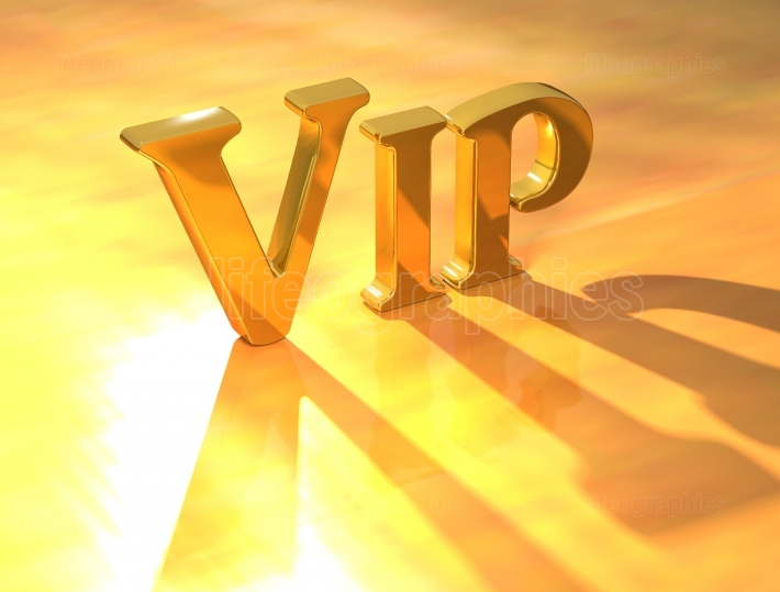Vip Gold Text