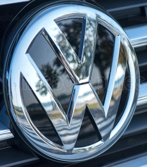 Volkswagen logo on September 2 2017 in ROMANIA