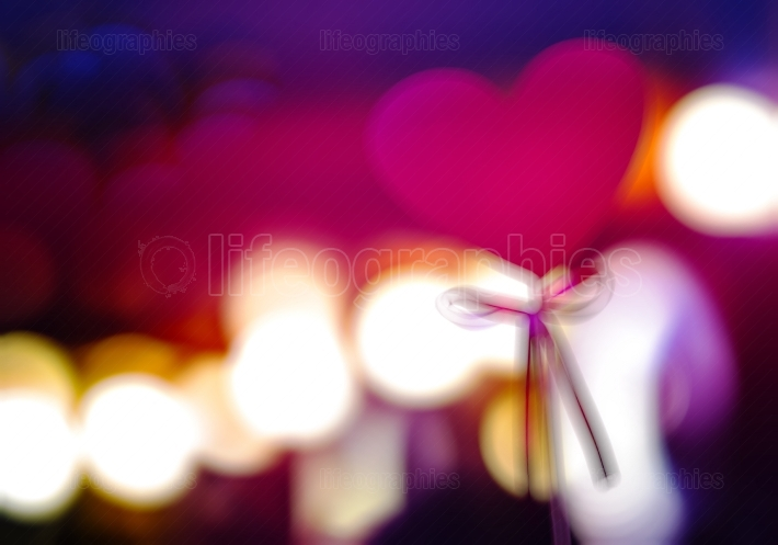 Wedding heart blurred bokeh backdrop