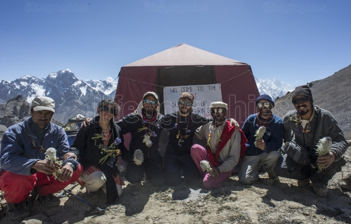 Welcome for expedition team. chashkin sar peak 6.400m