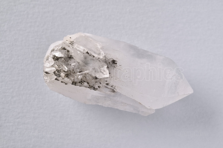 White natural quartz crystal