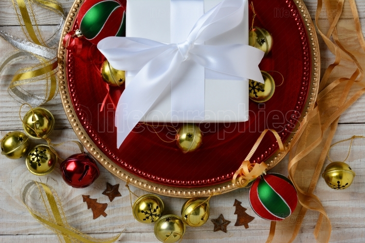 White Present and Ornaments
