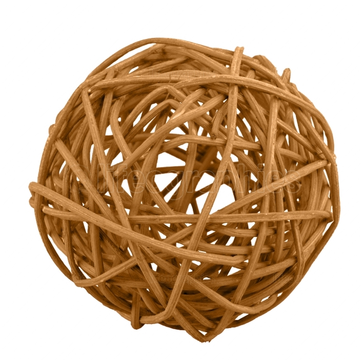Wicker ball isolated on a white background