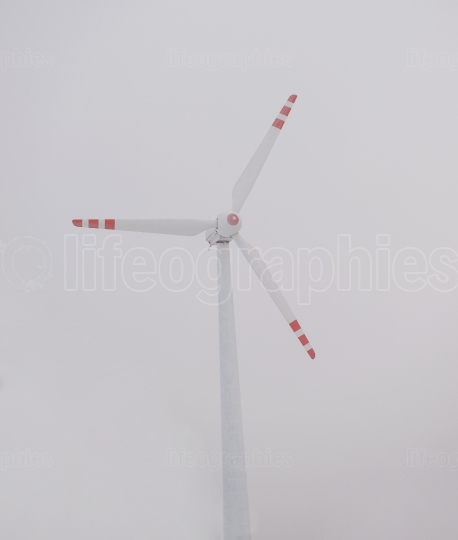 Wind turbine.conservation and clean energy.