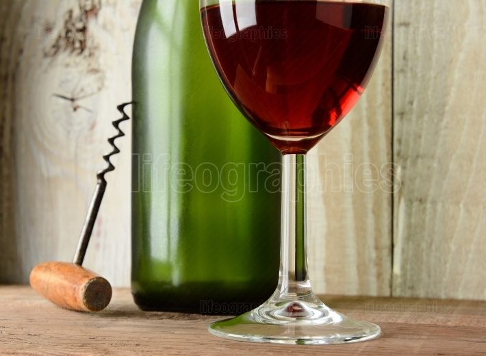 Wine Still Life with Green Bottle