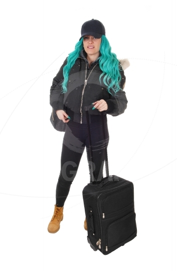 Woman going on a trip.