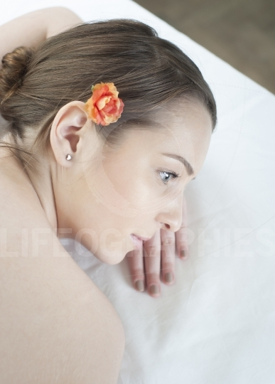 Woman having relaxing massage at spa