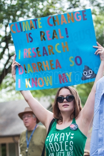 Woman Holds Up Funny Sign In Atlanta March For Science