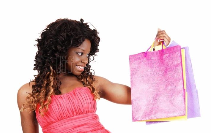 Woman with shopping bag s