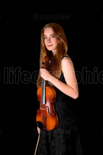 Woman with violin