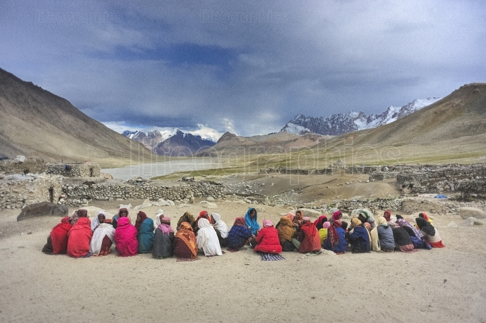 Women in Shimshal during a religious procession