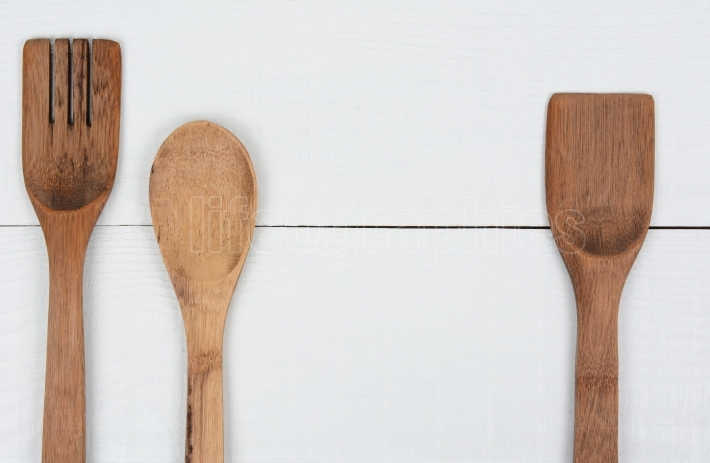 Wood Kitchen Utensils Three