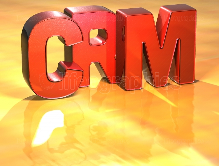 Word Crm on yellow background