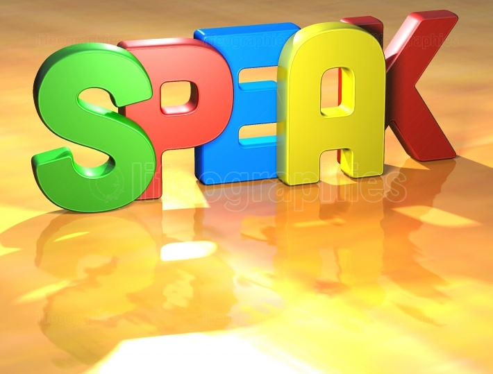 Word Speak on yellow background