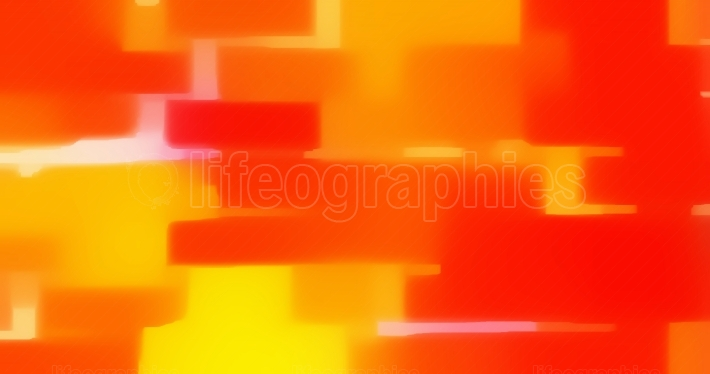 Yellow Red Orange Rectangles Abstract