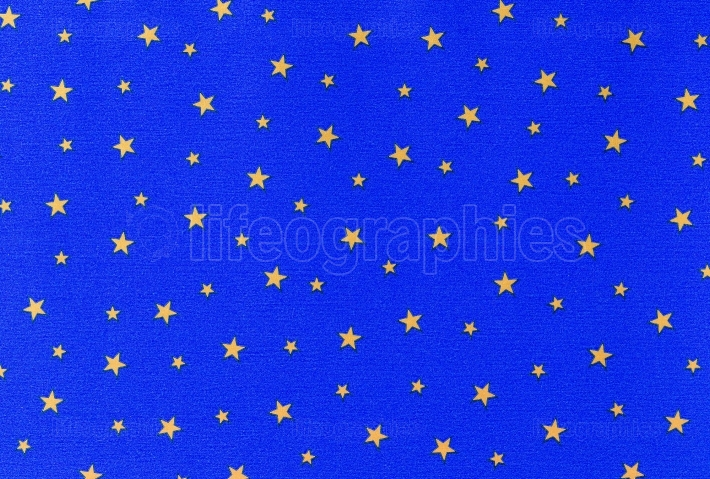 Yellow stars on blue background