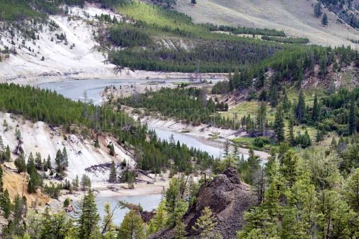Yellowstone River flowing through Canyon