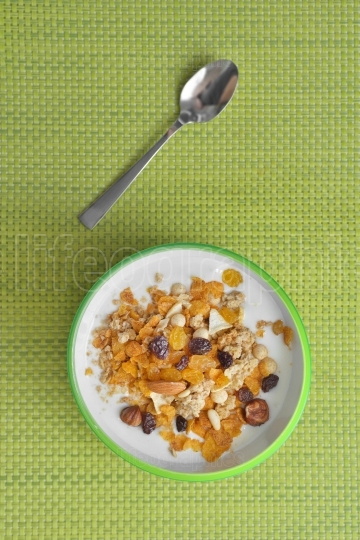 Yogurt and muesli