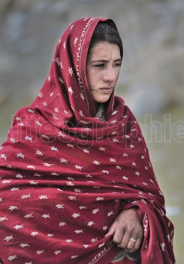 Young and beautiful shimshali girl from upper shimshal.
