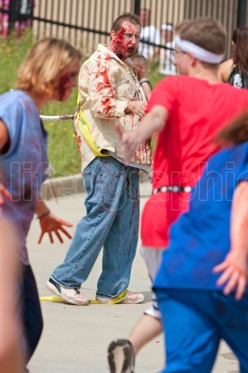 Zombies Chase Runners In 5K Race
