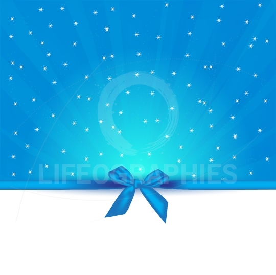 Abstract blue background with stars card gift