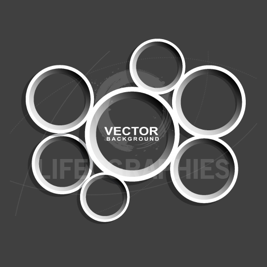 Abstract circle shape on black background
