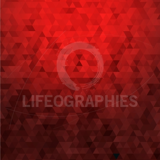 Abstract low poly red geometric background