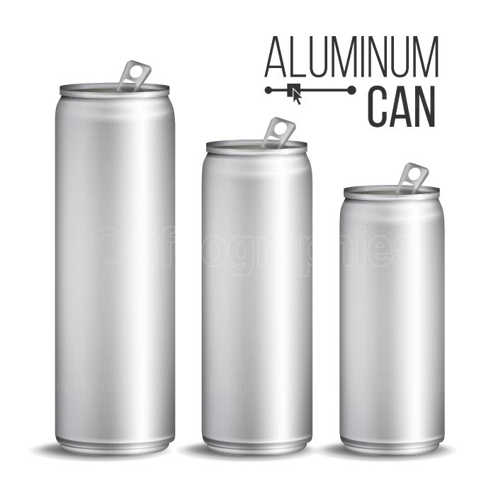 Aluminium Cans Vector  Silver Can  Branding Design  Blank Can Beer Of Soft Drink  Isolated Illustration