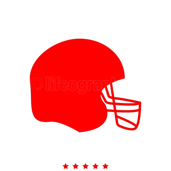 American football helmet it is icon