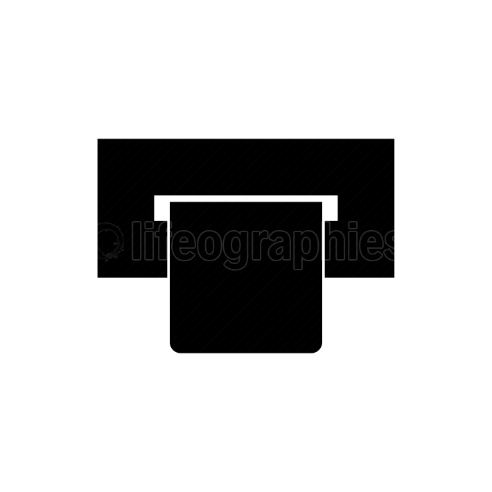Atm card slot  black color icon