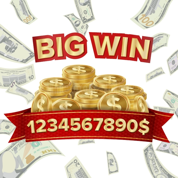 Big Win Isolated Vector  Golden Casino Treasure  Big Win