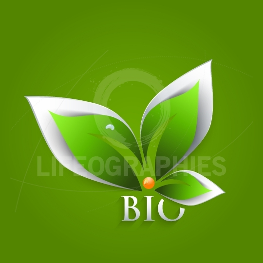 Bio green leaves abstract background