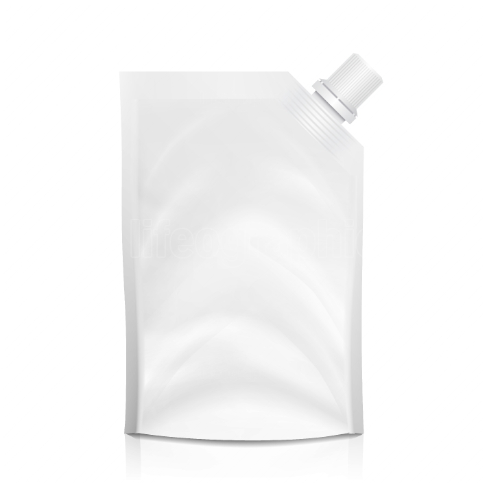 Blank Doypack Vector  Realistic White Doy pack