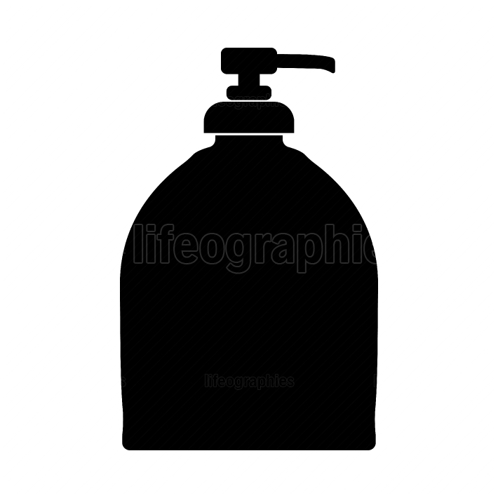 Bottle of liquid soap black color icon