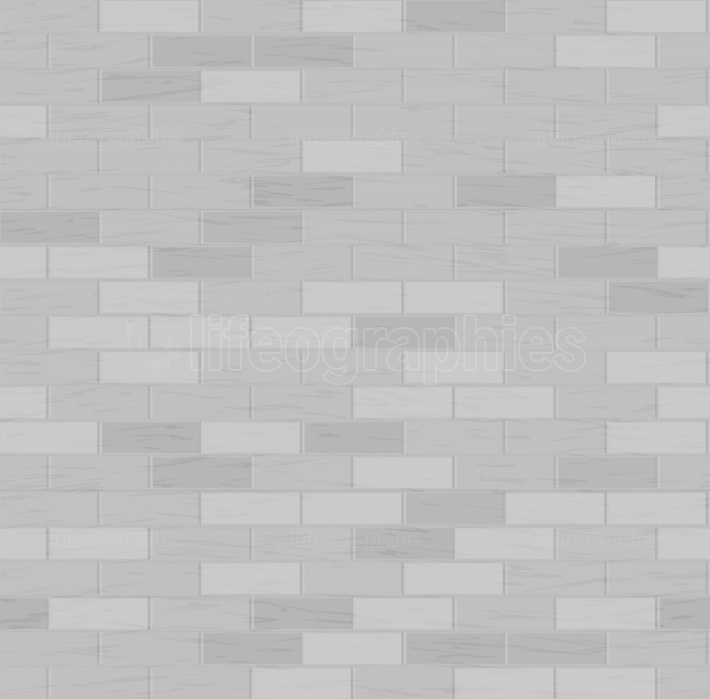Brick Wall Seamless Pattern  Vector Illustration  Gray Color  Design Element  Background Texture