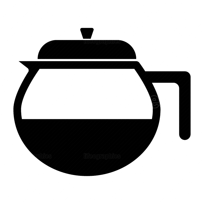 Capacity for hot drinks black icon