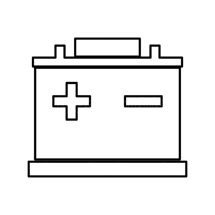 Car battery black color icon